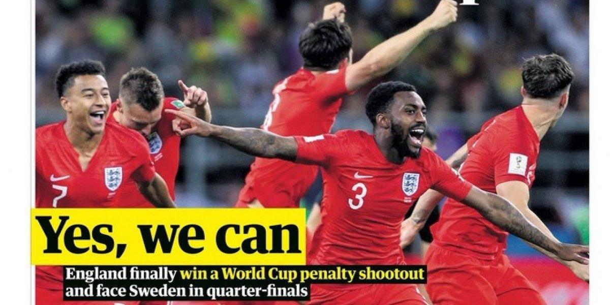 """""""Yes, we can"""": Las portadas inglesas enloquecieron con el paso a los cuartos de final del Mundial"""