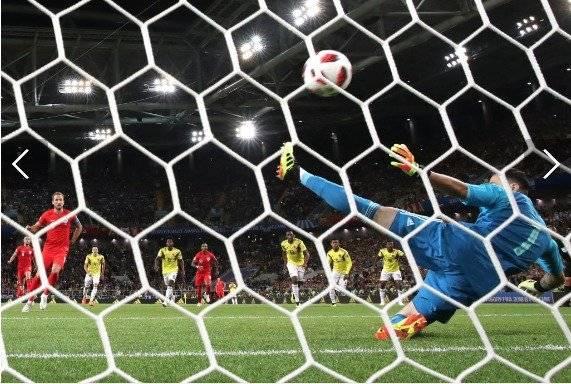 Harry Kane marcó su sexto gol ante Colombia y ponía el 1-0 en los octavos de final Getty Images