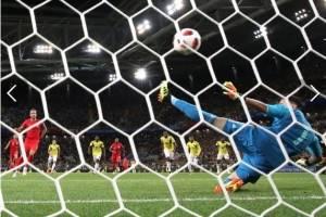 Harry Kane marcó su sexto gol ante Colombia y ponía el 1-0 en los octavos de final