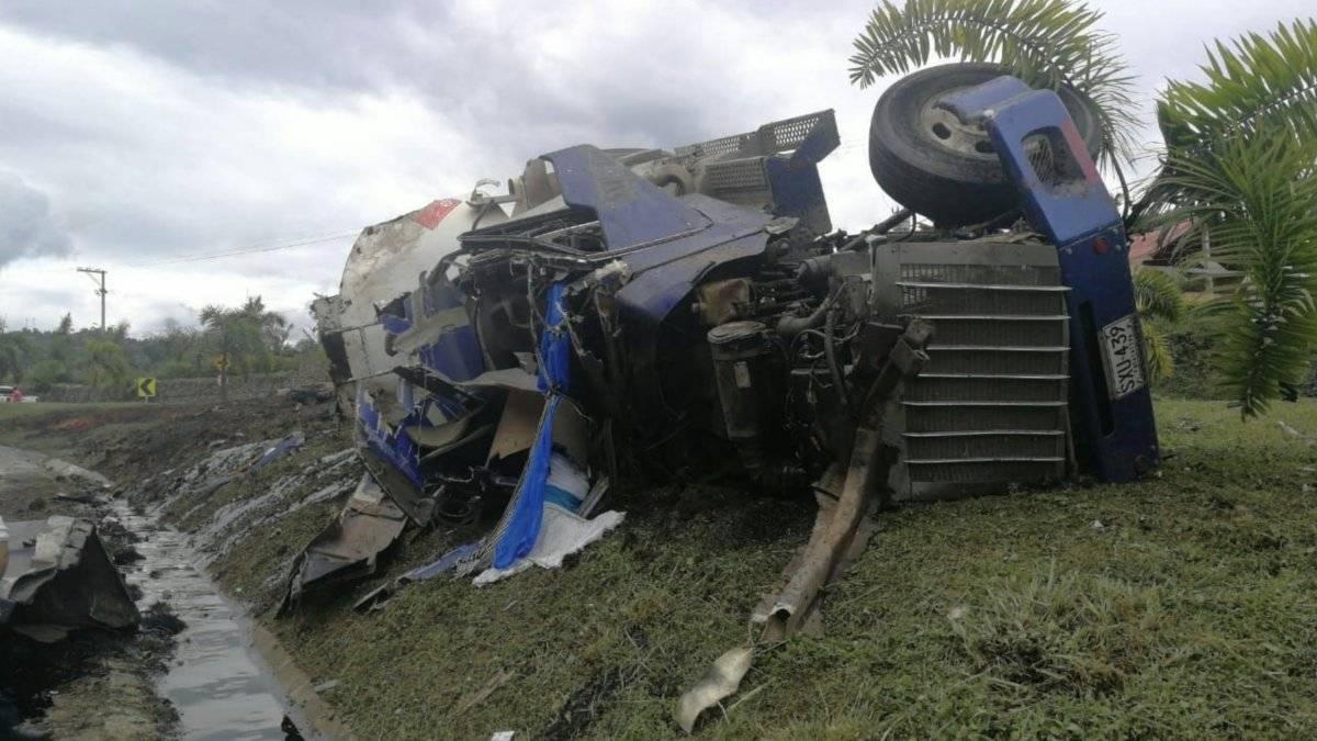 accidente vía Bogotá- Fusa
