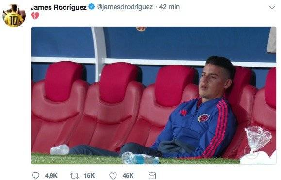 James Rodríguez Twitter