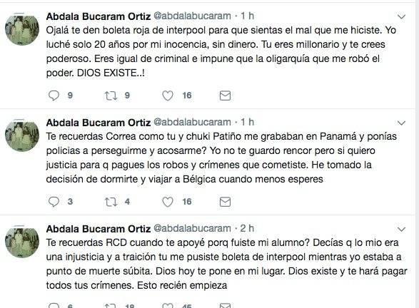 Abdalá Bucaram habla de Rafael Correa, luego de que jueza dictara orden de prisión preventiva