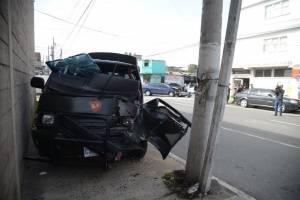 choque de vehículo del Ejército en zona 12