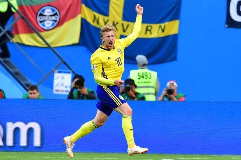 Emil Forsberg, el anotador que le dio la victoria a Suecia