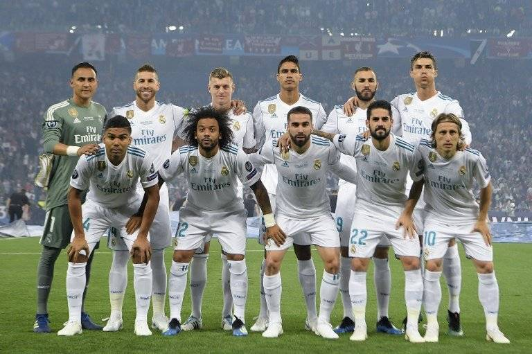 El equipo del Real Madrid que jugó la final de la Champions ante el Liverpool