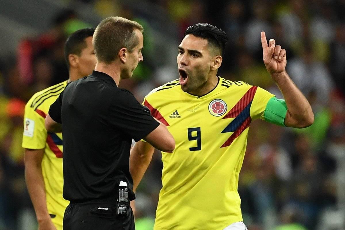 Falcao le reclamó al árbitro estadounidense