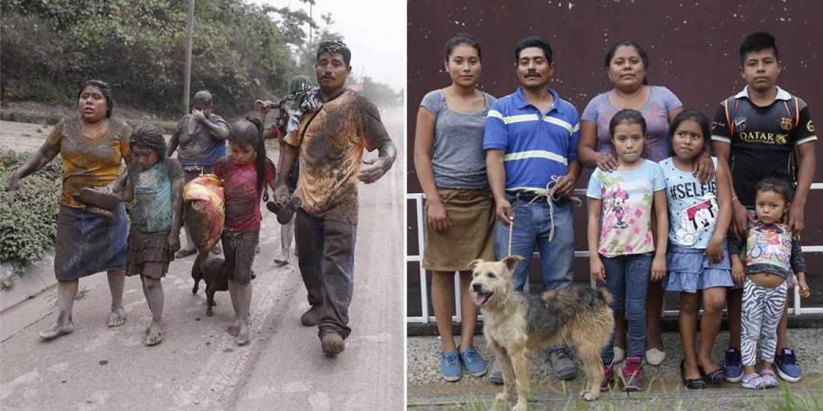 La familia Acajabón, sobreviviente de la erupción del volcán de Fuego, empieza de nuevo