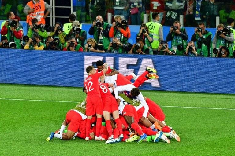 La eufórica celebración inglesa tras su pase