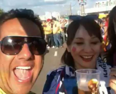 ¡Cuenta saldada! Japonesa perdonó a colombiano que la ofendió en Rusia