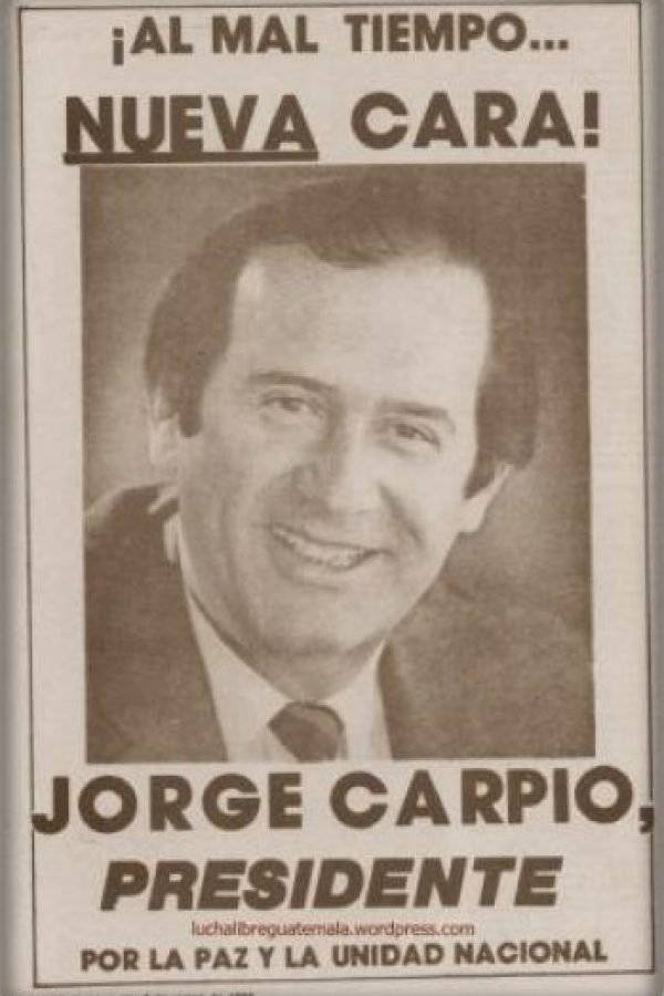 Jorge Carpio candidato a la presidencia 1993