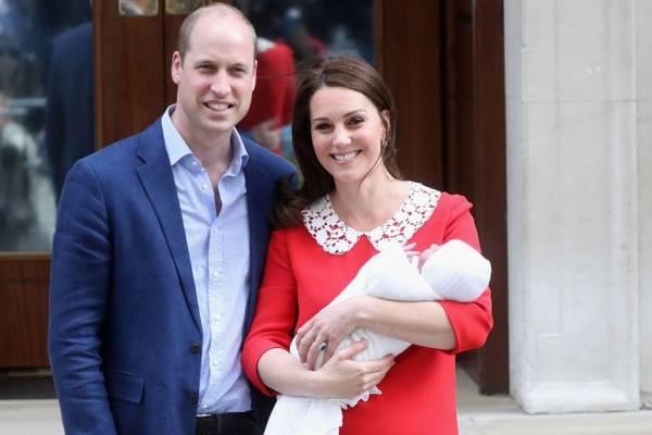 príncipe William, Kate Middleton e príncipe Louis