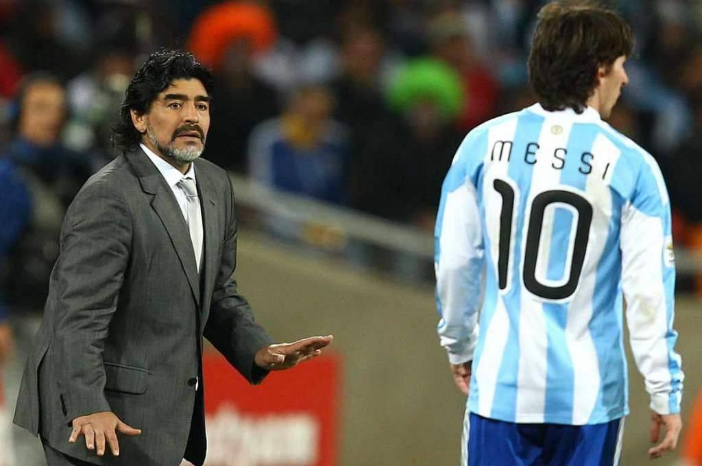 Maradona dirigió el Mundial de Sudáfrica en 2010