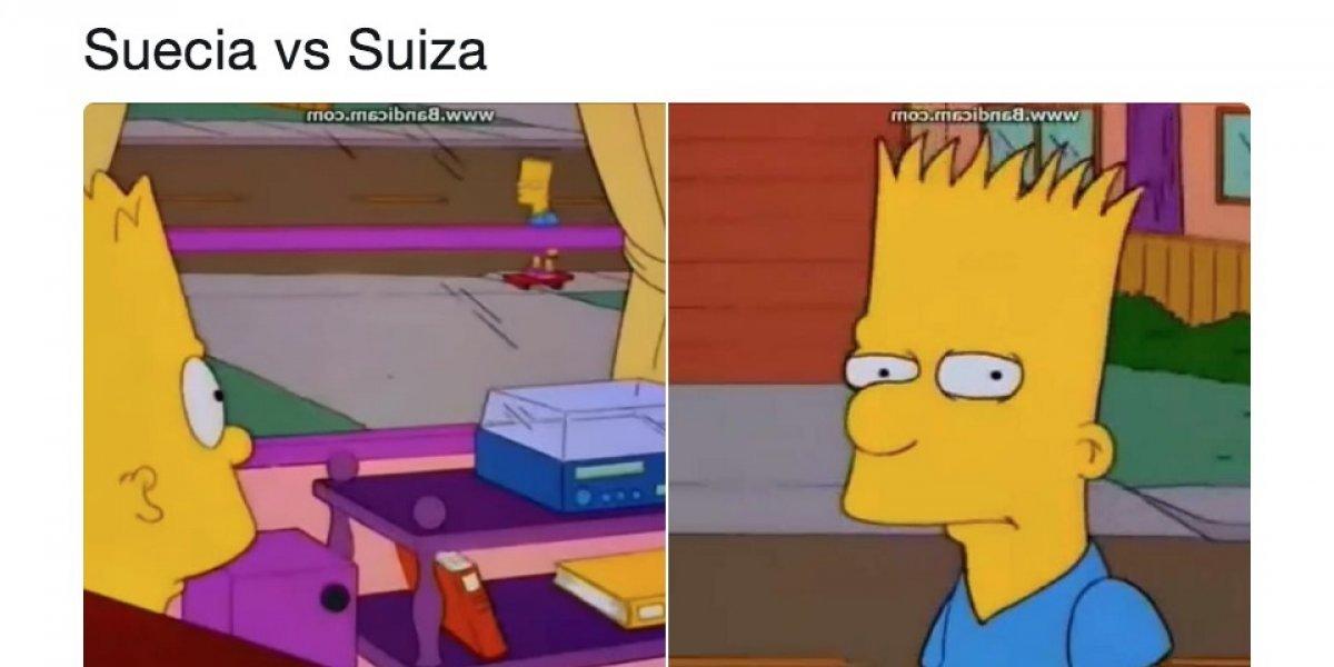 """""""Bart"""" y """"Spider-Man"""", los protagonistas de los memes del Suecia vs. Suiza"""