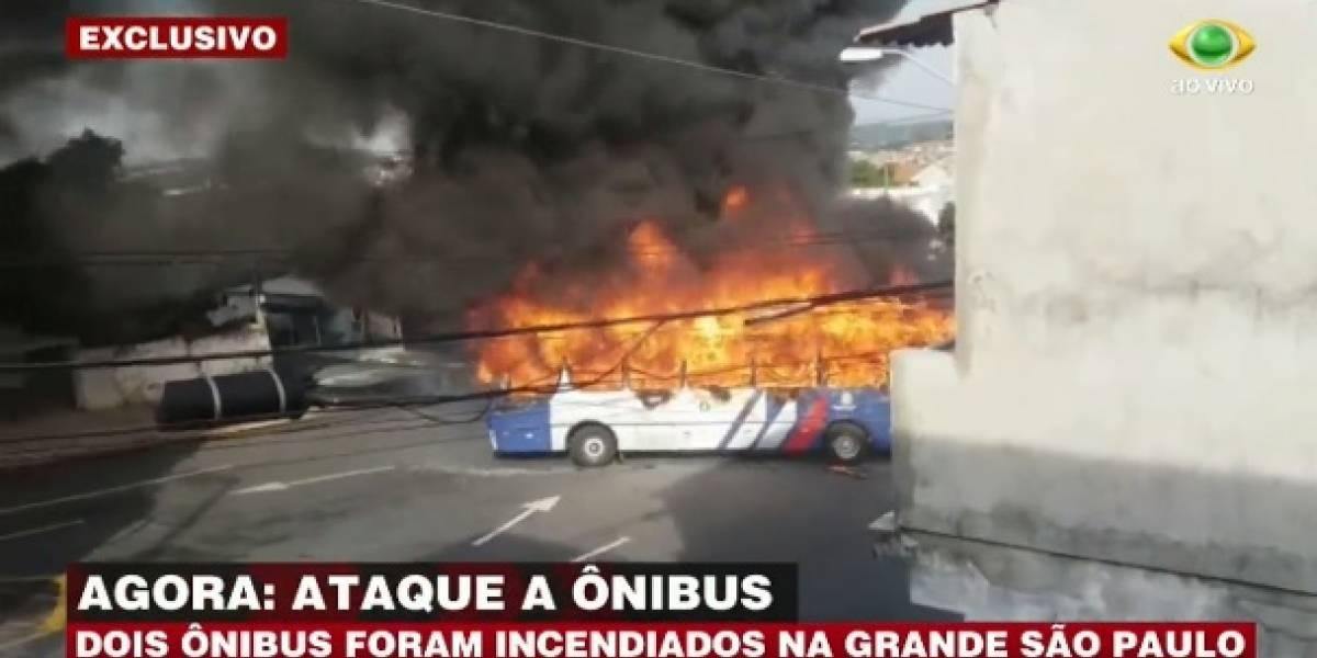 Ônibus são incendiados contra morte de jovem em Poá, na Grande São Paulo