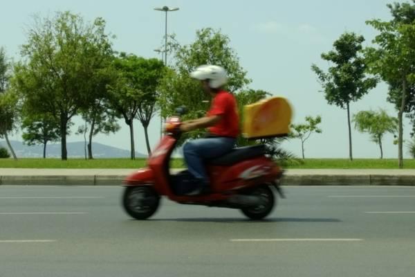 repartidor de comida rápida