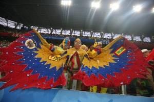 Acciones y color del juego Colombia vs Inglaterra