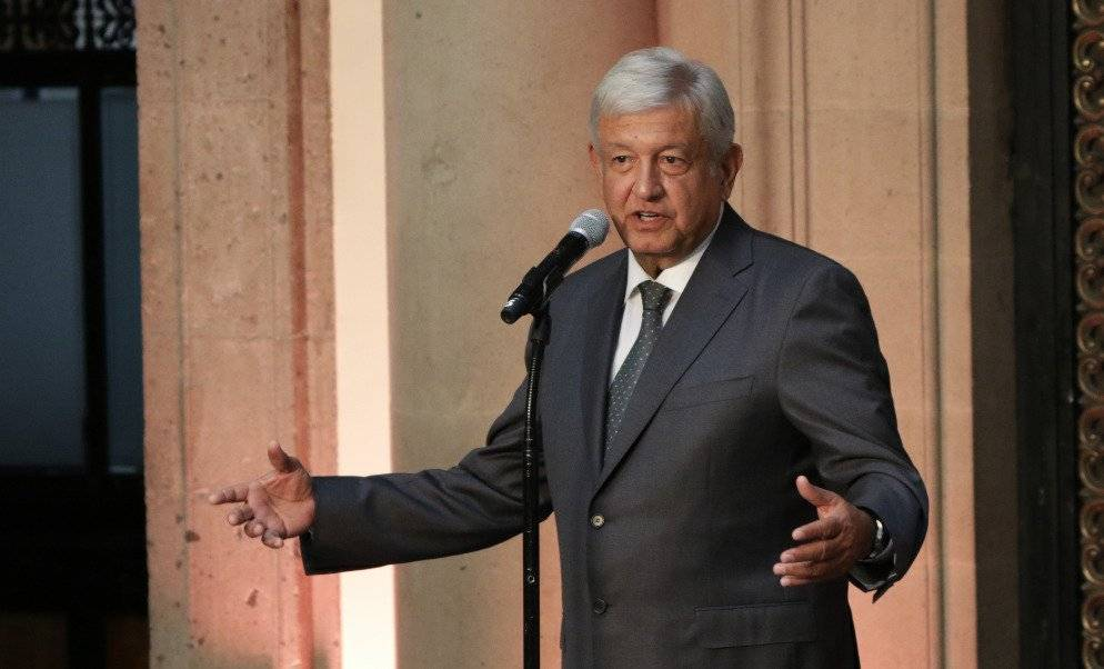 El virtual ganador de la elección ofreció mensaje en Palacio Nacional Foto: Cecilia Borja   Publimetro