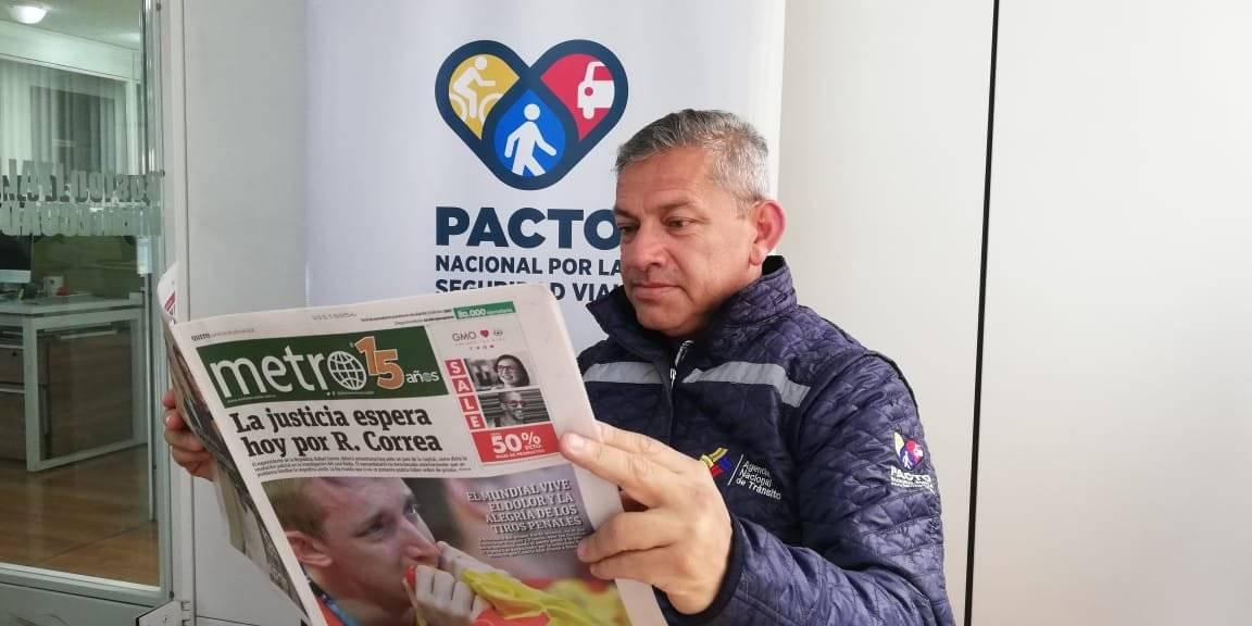 Director Provincial de Pichincha de la Agencia Nacional de Tránsito (ANT), Juan Pazos