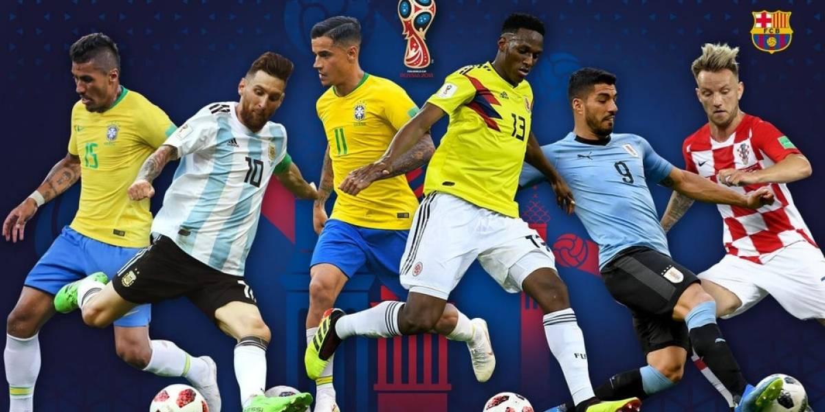 Barcelona comparte cómo les ha ido a sus futbolistas en el Mundial