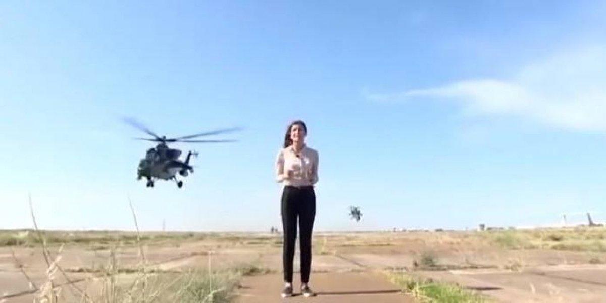 VÍDEO: Jornalista quase é decapitada ao vivo por helicóptero