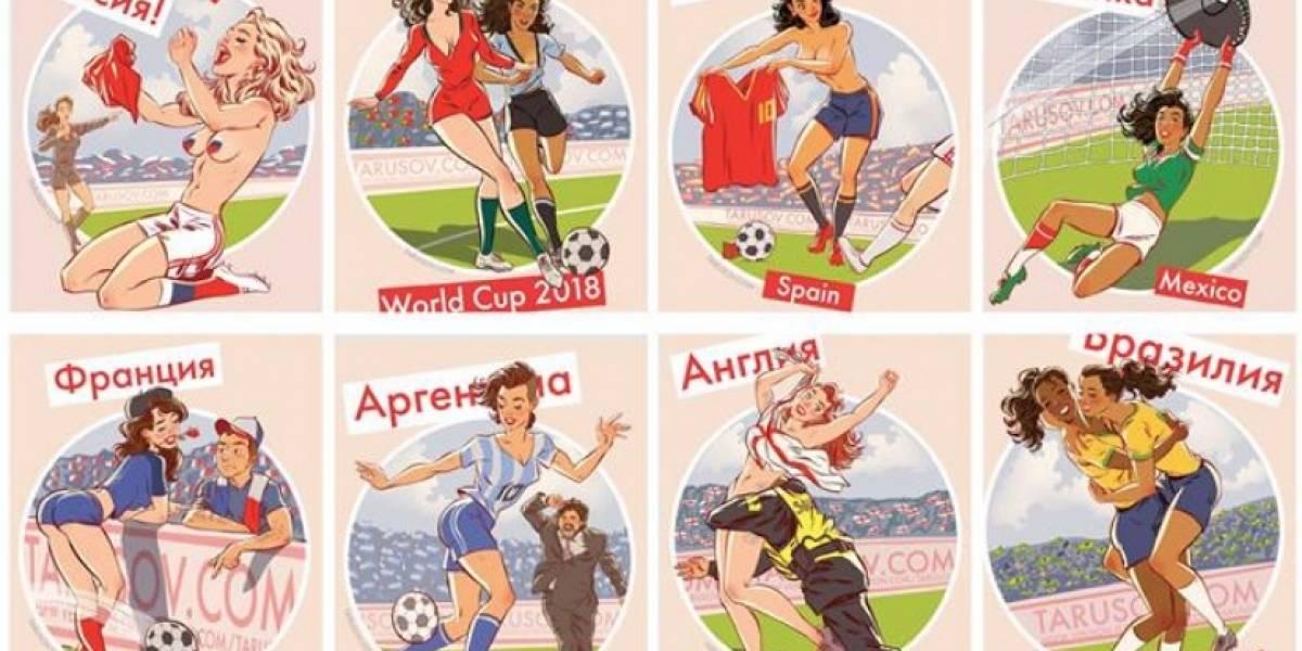 Calendario con bellezas de la Copa del Mundo conquista Internet