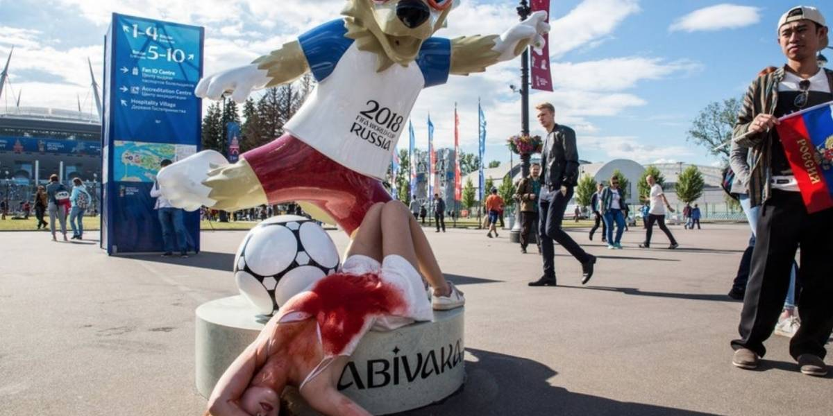 Activistas defienden sus derechos durante el Mundial Rusia 2018
