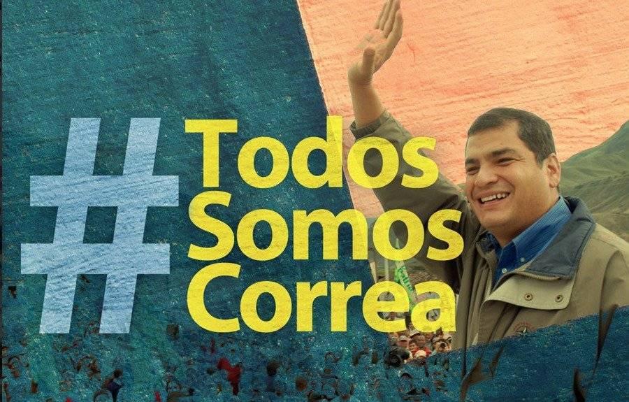 #YoSoyCorrea es tendencia en Twitter luego de la orden de prisión preventiva del expresidente Captura de pantalla/Twitter