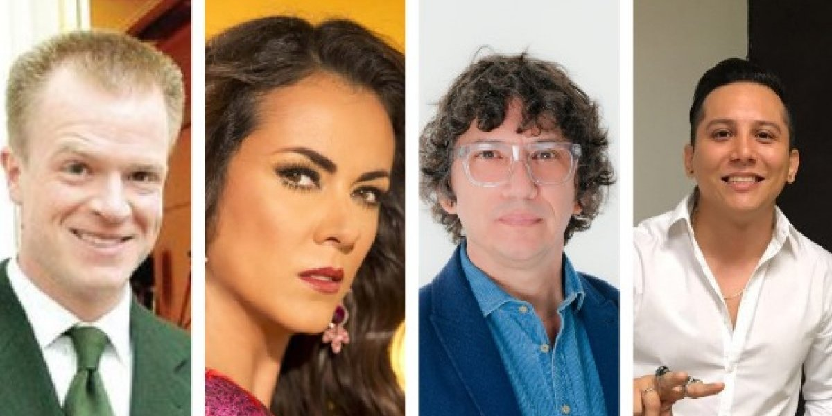 Edith Márquez, Arturo López Gavito y Edwin Luna en La Academia