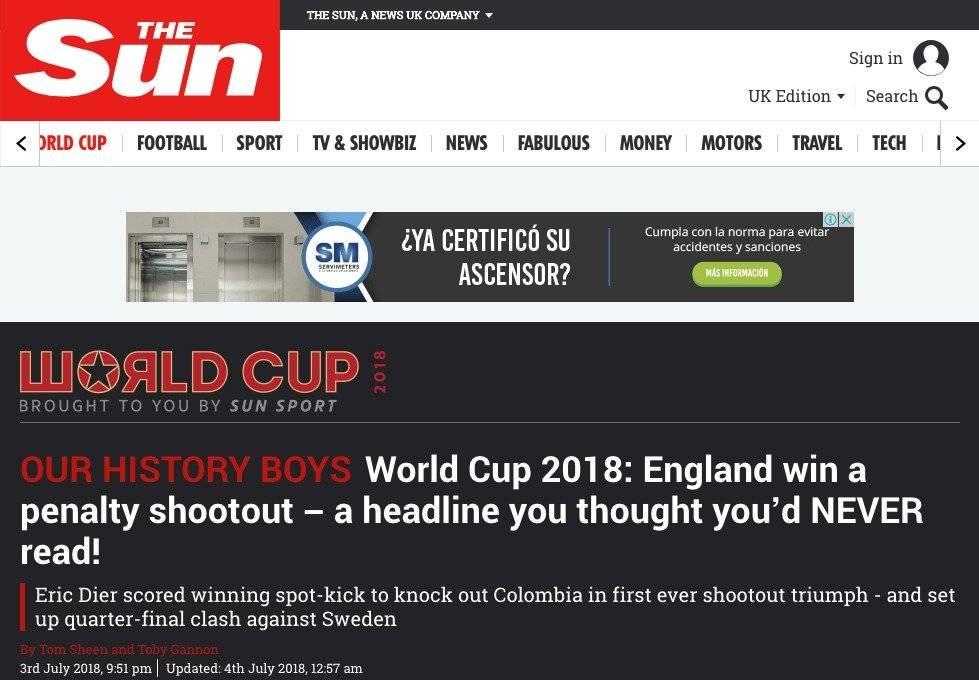 Prensa inglesa menospreció a la Selección Colombia