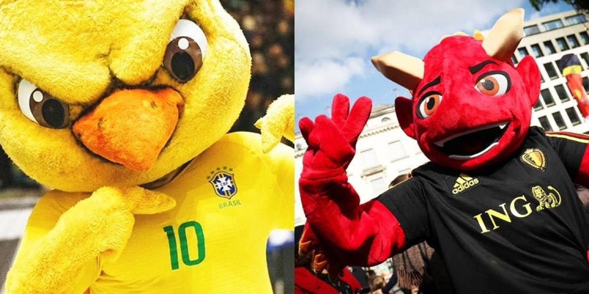 Brasil x Bélgica: a disputa pelo melhor mascote da Copa do Mundo