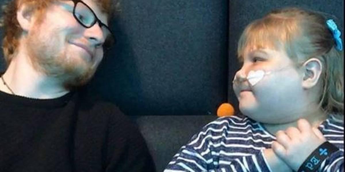Ed Sheeran presta homenagem à fã que morreu aos 11 anos: 'Descanse em paz linda'