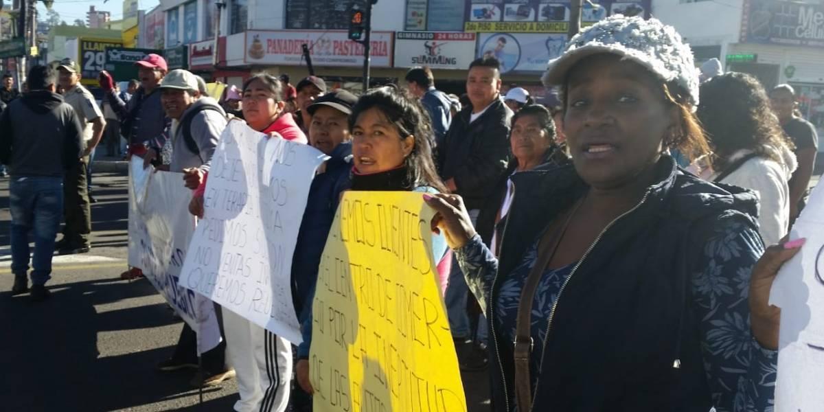 Cierre en la avenida Eloy Alfaro y Molineros tras protesta de comerciantes