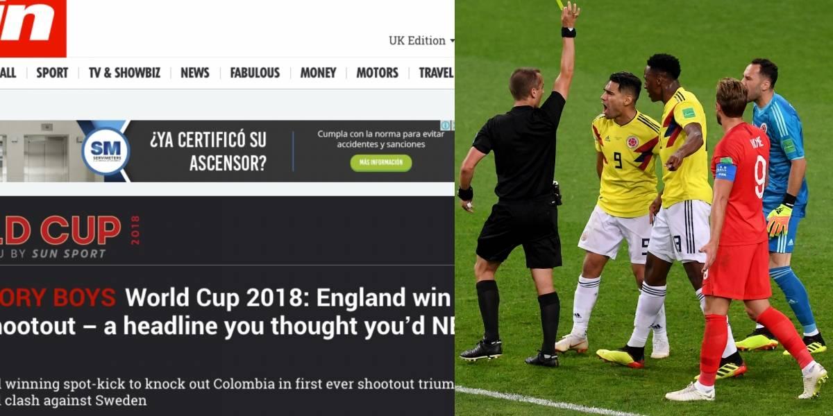 La prensa inglesa menospreció a la Selección Colombia tras triunfo de Inglaterra