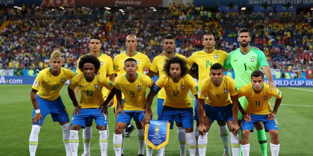 Brasil recuperó a tres de sus figuras lesionadas para enfrentar a Bélgica