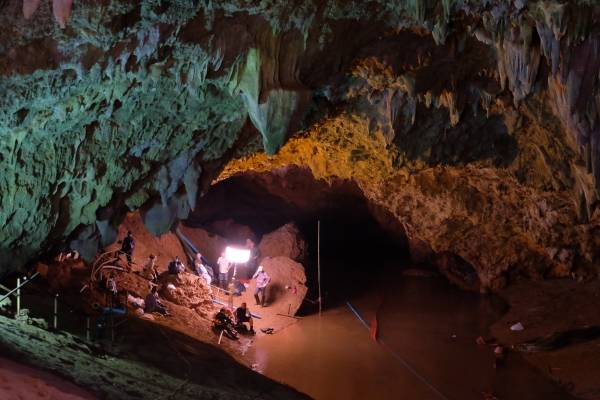 Tham Luang es una de las cuevas más profundas de Tailandia