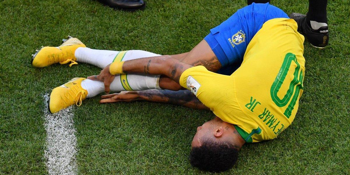Calculan cuántos minutos ha pasado Neymar en el piso durante Rusia 2018