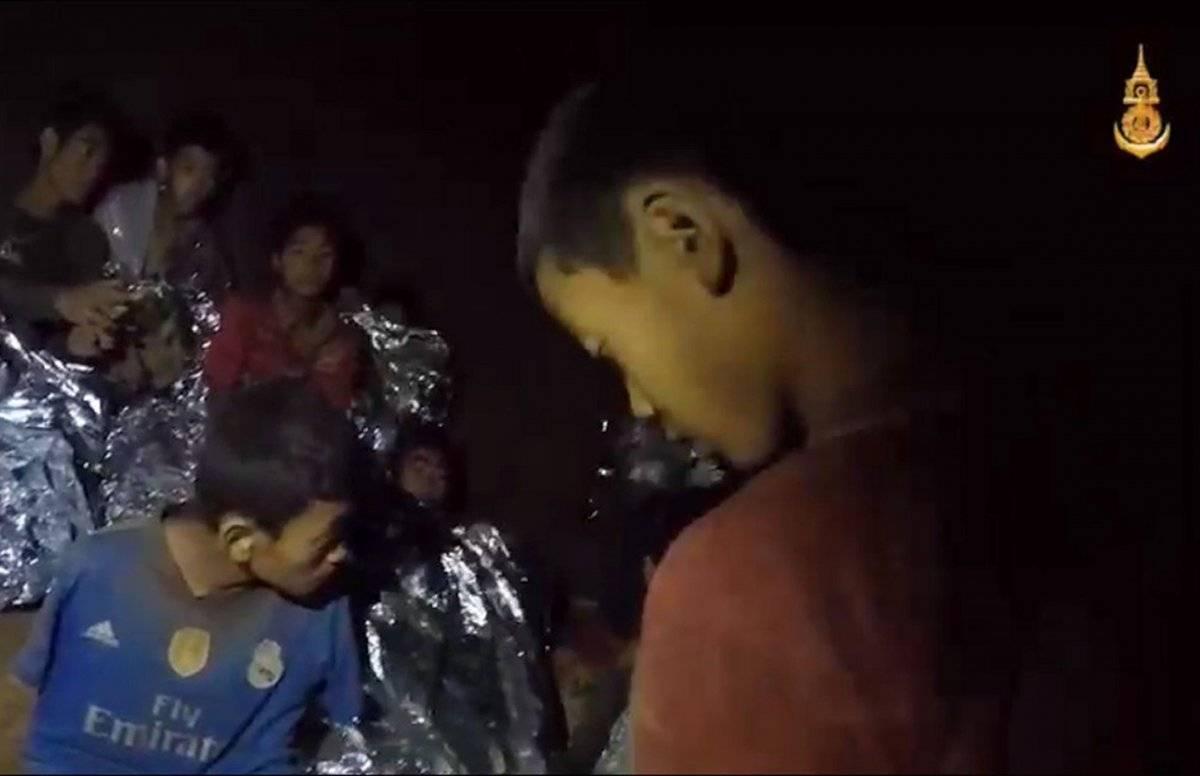 Niños atrapados Tailandia