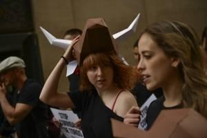 Protesta en Pamplona contra los San Fermines