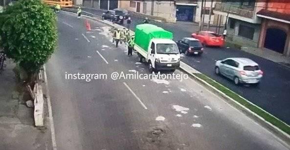 camión bota block en zona 2