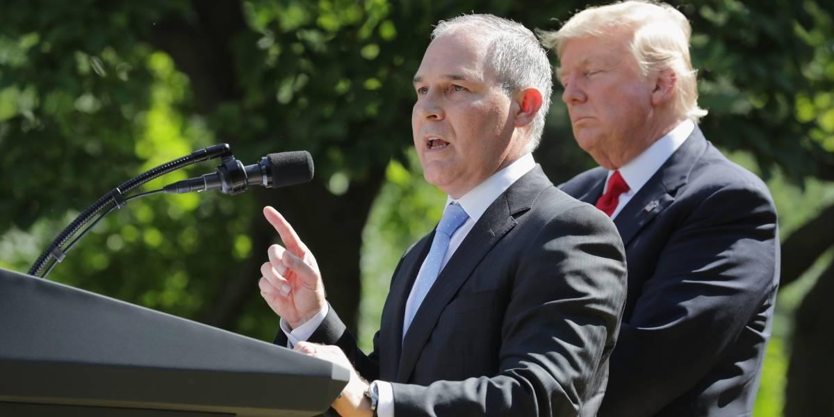 Otra renuncia en el gabinete de Trump; se va el jefe de Medio Ambiente