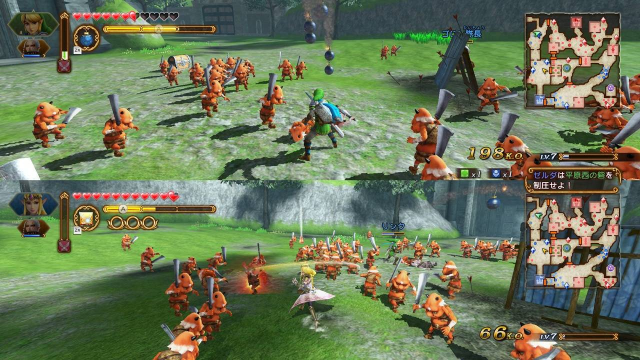 Hyrule Warriors cooperativo