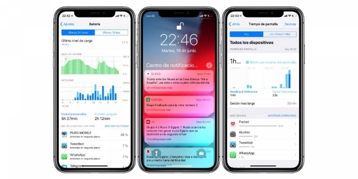 La segunda beta pública de iOS 12 ya está disponible