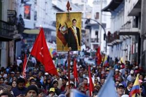 Marcha a Favor de Correa