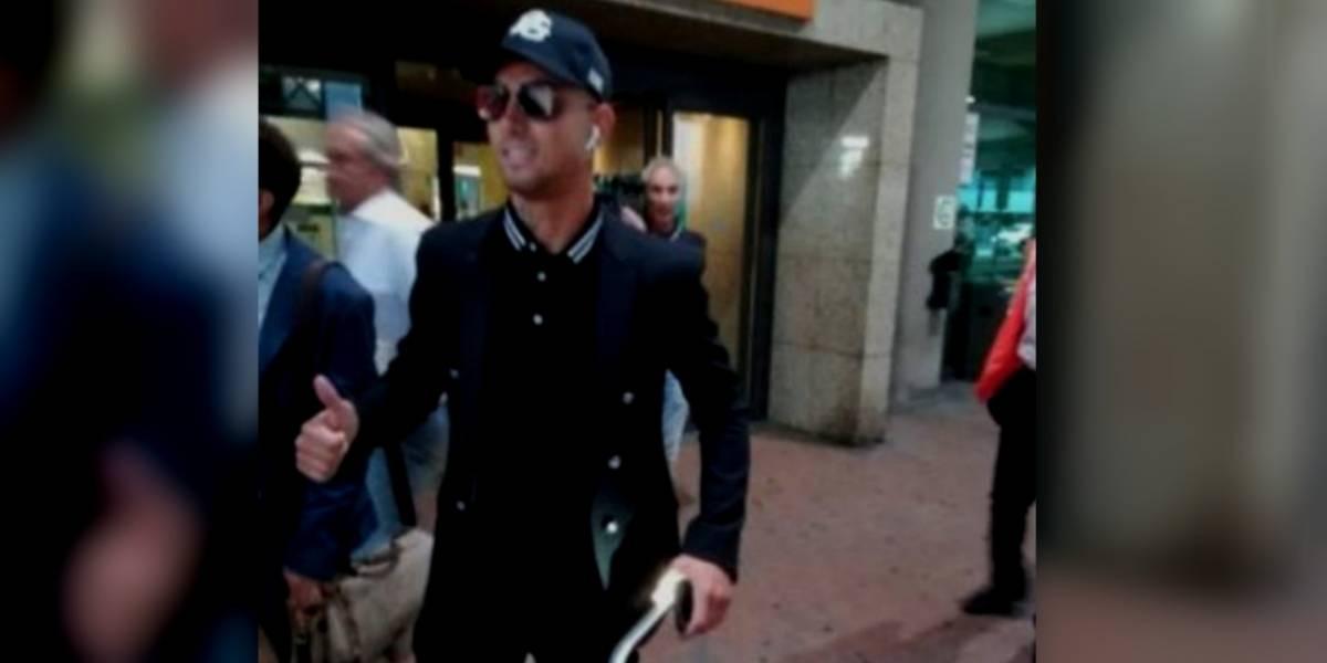 Cristiano Ronaldo llega a Turín y así reaccionan aficionados de la Juventus