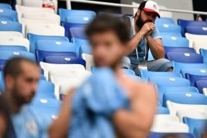 Los uruguayos lloraron la eliminación de su selección de la Copa del Mundo.