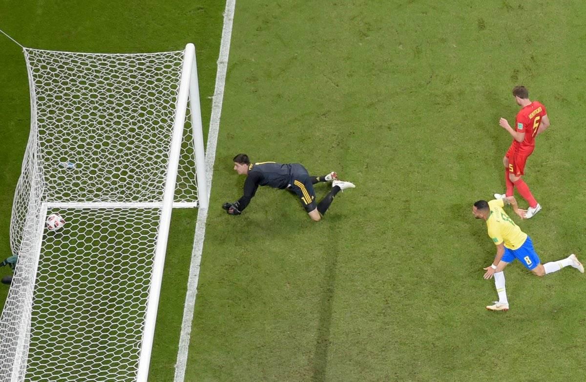 Gol de descuento de Brasil