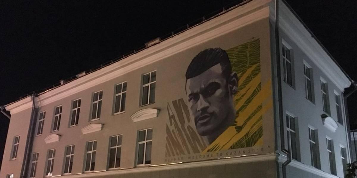"""Brasil eliminado: """"maldição do grafite"""" de Kazan se repete com Neymar"""