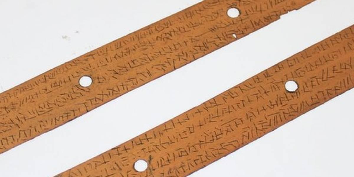 Las misteriosas escrituras halladas en hojas de palma y en una ...