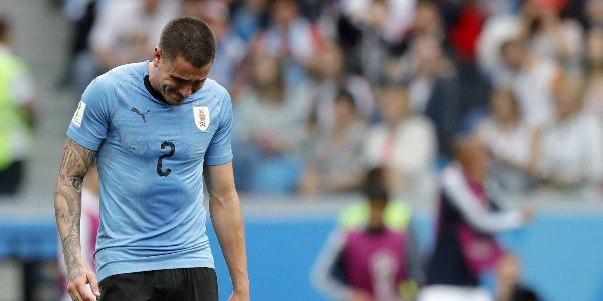 VIDEO: José María Giménez rompe en llanto tras eliminación de Uruguay
