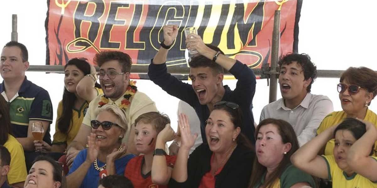 Belgas fazem festa na embaixada do país em Brasília após classificação